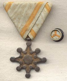 Check out the deal on WWII Japanese Order of the Sacred Treasure Class Medal with Lapel Stud at Flying Tiger Antiques Online Store Military Decorations, Imperial Japanese Navy, Antiques Online, Mans World, Military History, Silk Ribbon, World War, Wwii, Metals