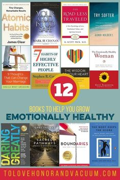 It's time for a resource list of books to help you grow more emotionally mature! I know that we've got so many resources other than just books, and so I'll give some suggestions on how to identify healthy resources online as well. #emotionalmaturity #resourcelist #personalgrowth #happymarriage #healthyrelationships #tolovehonorandvacuum