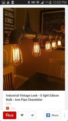 Love the light fixtures