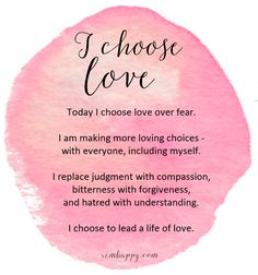 These three words can change your life. Repeat this affirmation for love and you will find the strength to lead your life from a place of true happiness.