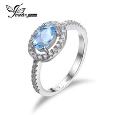925 Natural Blue Topaz Sterling Silver