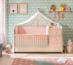Cilek Baby Girl Kombi Kiságy (75×160 Cm) 20.42.1016.00.1 Baby Nursery Diy, Yellow Nursery, Baby Nursery Themes, Star Nursery, Rustic Nursery, Baby Boy Nurseries, Girl Nursery, Baby Room, Adams Furniture