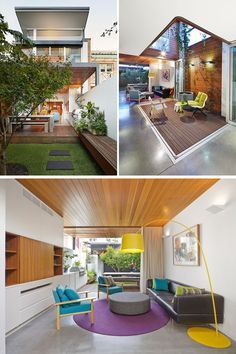 23 Awesome Australian Homes To Inspire Your Dreams Of Indoor/Outdoor Living | The back of this home opens up onto the backyard and has cabinetry that extends from the indoor entertainment unit onto the deck that houses a large built-in barbeque. Other areas of the home are also connected to the outdoors with folding glass doors that open up onto patios right inside the home.