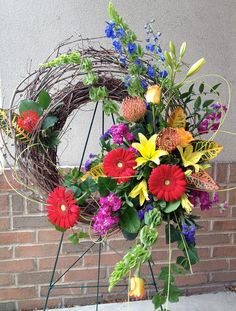 A gorgeous wreath from Art in Bloom in Brighton, MI