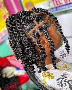 Little Girl Twist Hairstyles Black, Lil Girl Hairstyles, Black Girl Braided Hairstyles, Little Girl Braids, Twist Braid Hairstyles, Natural Hairstyles For Kids, Natural Hair Styles, Toddler Hairstyles, Baddie Hairstyles