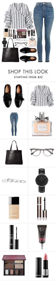 """Mode #392"" by alexiane-n ❤ liked on Polyvore featuring Caroline Constas, Topshop, Christian Dior, SOREL, Paul & Joe, Kendra Scott, Daniel Wellington, Chanel, Givenchy and MAKE UP FOR EVER"