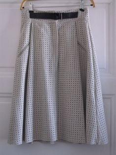Jupe Zara laine perforée S