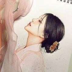 Korean Art, Prismacolor, Kpop, Art Sketchbook, Pencil Art, Insta Art, Colored Pencils, Art Girl, Art Drawings