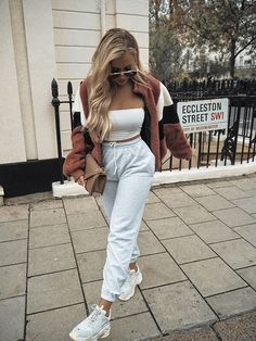 How to get Balenciaga Triple S Trainers White shoes sneakers fashion shoes sport men woman style balenciaga TripleS White 795729827896351395 Style Outfits, Chill Outfits, Sporty Outfits, Mode Outfits, Trendy Outfits, Summer Outfits, Fashionable Outfits, Summer Shorts, Winter Outfits