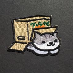Image of Pickles Patch ironpatches Cute Patches, Pin And Patches, Sew On Patches, Iron On Patches, Bag Patches, Calming Images, Denim Jacket Patches, Cat Patch, Neko Atsume