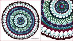 Crochet Tutorial: Henna Inspired Mandala – YARNutopia by Nadia Fuad Diy Crochet Doilies, Crochet Mandala Pattern, Doily Patterns, Crochet Yarn, Crochet Stitches, Crochet Hooks, Crochet Patterns, Free Crochet, Crochet Afghans