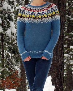 Titbirds Sweater pattern by Natalia Moreva - fair isle knittings Fair Isle Knitting Patterns, Sweater Knitting Patterns, Knitting Charts, Knit Patterns, Free Knitting, Stitch Patterns, Knitting Sweaters, Vintage Knitting, Motif Fair Isle