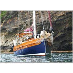 Beautiful blue hull Bristol Channel Cutter!