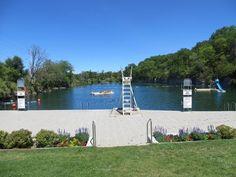 St. Marys, Ontario limestone quarry outdoor swimming pool