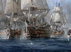 HMS Victory, Redoutable. 'The Broken Lines' (Battle of Trafalgar)