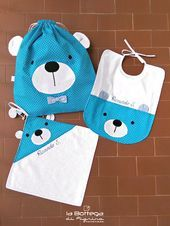Teddy Bear Set - 3 pcs (Various Colors)- Teddy Bear Set – 3 pcs (Various Color. Teddy Bear Set - 3 pcs (Various Colors)- Teddy Bear Set – 3 pcs (Various Colors) - Quilt Baby, Cute Sewing Projects, Art And Craft Videos, Baby Kit, Baby Couture, Kids Bags, Sewing For Kids, Kind Mode, Baby Boy Outfits