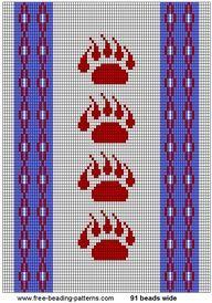 4 Bears - Bear Clan - loom beading pattern