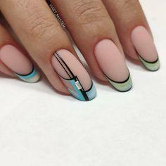 Mani Pedi, Nail Manicure, Nail Polish, Nail Art Designs Videos, Nail Designs, Matte Nails, Acrylic Nails, Hair Treatment Mask, Geometric Nail