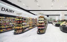 Hyundai Department Store Supermarket Design, Retail Store Design, Retail Shop, Shop Signage, Food Retail, Boutique Interior, Commercial Interior Design, Department Store, Grocery Store