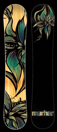Marhar Bloom 148. All-Terrain/ Park Freestyle Women's Snowboard. True Twin Hybrid Rocker Camber. Centered Stance Flexy Board for all-over fun