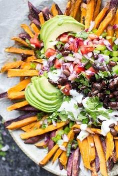 These healthy, loaded sweet potato fries will definitely make you popular at…