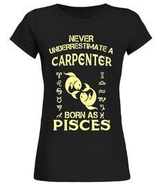 Mens Carpenter T-Shirt Pisces Astrology Zodiac Birthday Tee astrology shirt,cancer astrology shirt,leo astrology t shirt,astrology t shirt,astrology mens t shirt,