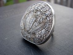 MadetoOrder Fossilized Sand Dollar Silver Modern by SaraBJewelry, $225.00