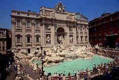 Fontana de trevi....amongst the narrow streets you turn a corner and run into this breathtaking gem