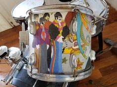 Callao, Peru (Callao Monumental) - Peter Max Beatles Era Drum Set from Yellow Submarine ART.  Pieces of Artists works in their shops.  Callao Monumental is an amazing project to revitalize the Municipality of Callao, Peru, where an artist colony is blossoming up in what was a very rough section.  Original photography from R. Stowe