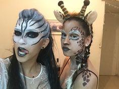 Zebra and giraffe makeup