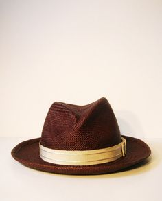 Brown panama straw fedora — as an alternative to the traditional white.