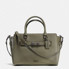 f59f4c431e4c6 Coach Blake Carryall In Bubble Leather F35689 BLACK ANTIQUE NICKEL SURPLUS  ARMY GREEN Cross Body Bag