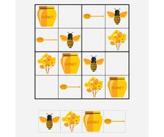 As Busy as a Bee: 13 Ideas for Creativity + Bonus for Needlewomen, фото № 18 Fun Activities For Kids, Puzzles For Kids, Bee Crafts For Kids, Sudoku Puzzles, Stained Glass Paint, Bee Theme, Thinking Skills, How To Make Pillows, Printing Labels