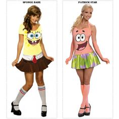 Bikini Bottom Woman's Spongebob Patrick Star Costume Dress Pineapple Squarepants #Rubies #CompleteCostume