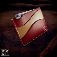 Leather Cuffs, Leather Belts, Leather Tooling, Leather Men, Leather Wallets, Leather Wallet Pattern, Handmade Leather Wallet, Couture Cuir, Leather Projects