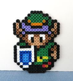 LINK- Legend of Zelda Link to the Past- Pixel Art- Great Zipper Pulls for Backpacks or Holiday Ornaments