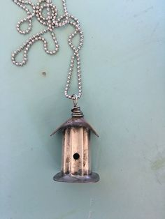 This has been hand cut from vintage silver plated silverware. I have formed a copper roof and base. Each necklace is unique. This necklace hangs on a chain, I would be happy to shorten it, just pu Silverware Jewelry, Spoon Jewelry, Copper Jewelry, Wire Jewelry, Jewelry Crafts, Jewelry Art, Jewelry Design, Jewelry Ideas, Ammo Jewelry