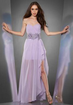 High Low Purple Evening/Military Ball Dress