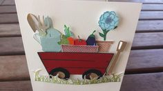 Handmade greeting card any occasion card gardening theme paper card