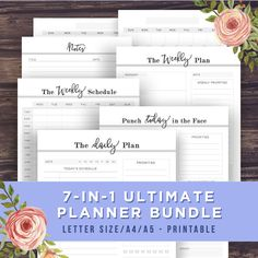 YOUR BEST YEAR YET STARTS NOW!  Declutter, Organize, and Simply Your Life with this 7-in-1 Planner Bundle - Get the MOST Popular Planner Items