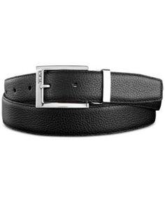 Wolverine Men/'s Reversible Pebbled Jeans Belt With Engraved Logo