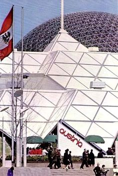 The Austrian Pavilion (Expo Where I spent the some of the last of the days with my adored mother and beloved maternal grandmother, whom I knew was dying. The three of us knew true joy that summer. Expo 67 Montreal, Montreal Ville, Tomorrow Land, Old Port, Lounge, Unique Buildings, Carnivals, Urban, World's Fair