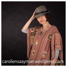 Knitted poncho caroliensaayman.wordpress.com #wearableart #knittersofinstagram #knittersoftheworld #knittinglove #knitting #knittingdesign #caroliensaayman #poncho