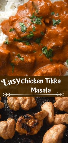 Tasty Baked Chicken Tikka Masala Recipe Made Just for You! Great Chicken Recipes, Chinese Chicken Recipes, Recipe Chicken, Spicy Recipes, Indian Food Recipes, Meat Recipes, Dinner Recipes, Tortellini, Butter Chicken Rezept