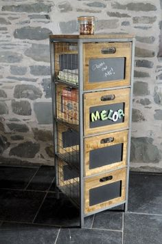 Apothecary Tallboy Chest. Vintage, industrial designer 4 drawers. Real quirky storage unit for the kitchen or office. Handmade from steel and mango wood. need a solution then call Smithers