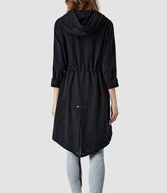 Womens Portere Parka Jacket (Ink) | ALLSAINTS.com Size 10 WANT