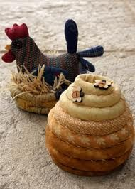 chooky and behive pincushions