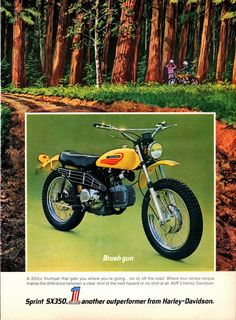 1972 VINTAGE ADVERTISEMENT Harley Davidson by markopostcards