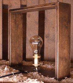 Edison Table Lamp Edison Lamp Rustic Lamp by TheWoodArtShop