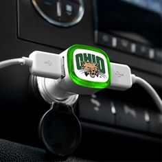 Ohio University Bobcats - USB Car Charger #USBCarCharger #BobcatCharger